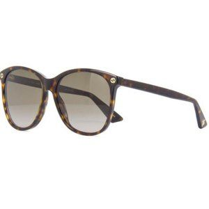 Gucci Oversize Style Brown Gradient Lens